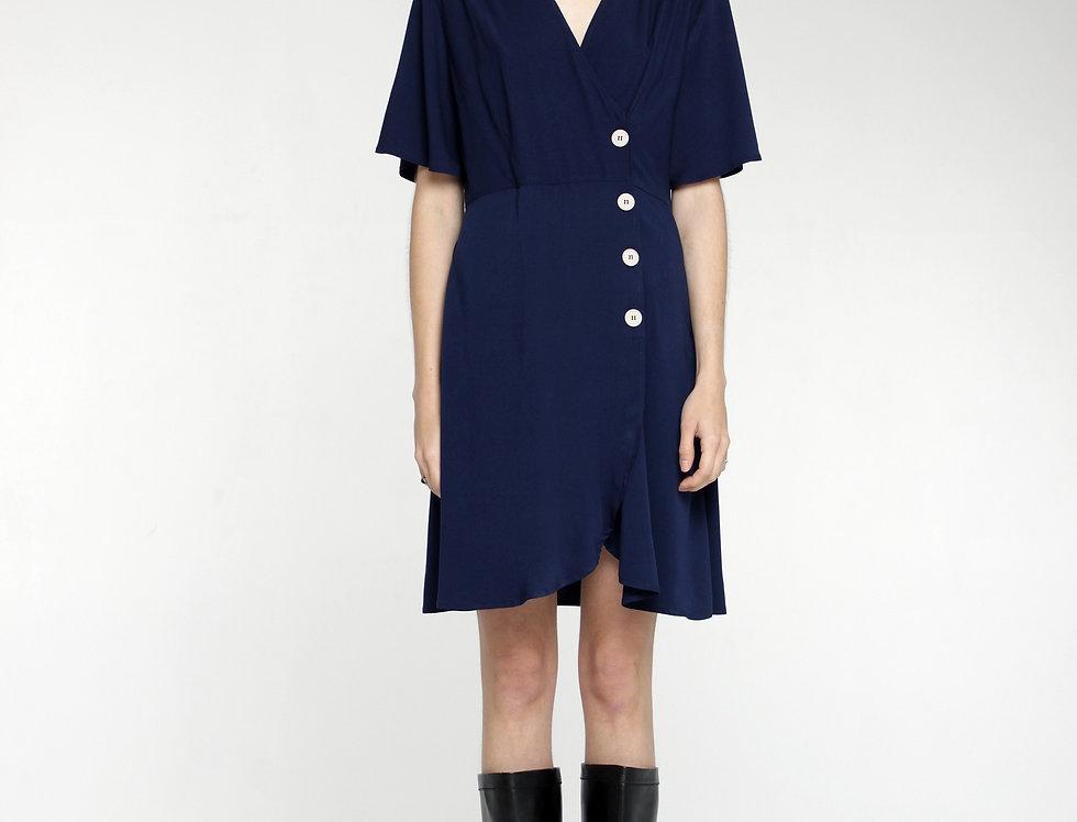 Платье мини тёмно-синее