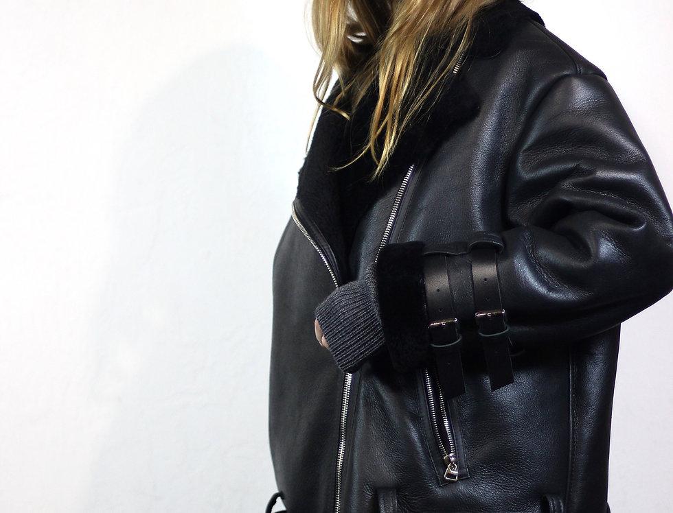 Куртка-авиатор черная