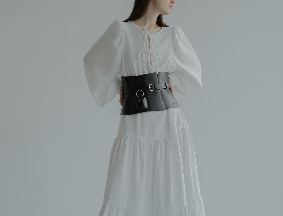 Платье с завязками длинное