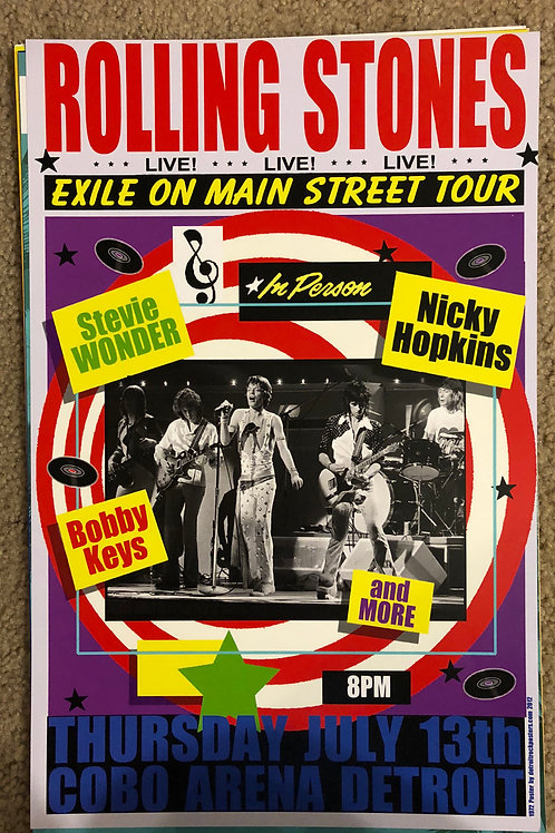 Rolling Stones Exile on Main Street Tour (11x17)