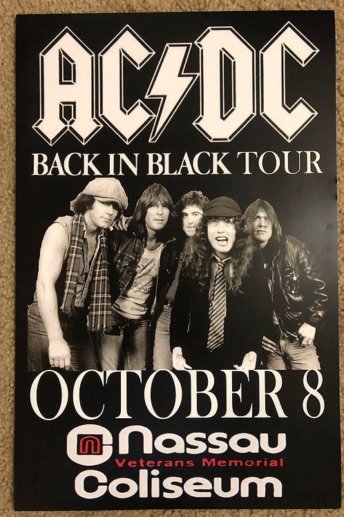 ACDC Back in Black Tour (11x17)