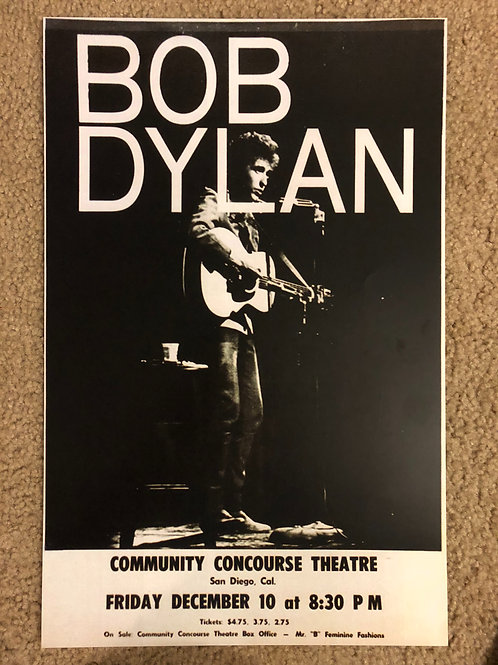 Bob Dylan Community Concourse Theater (11x17)