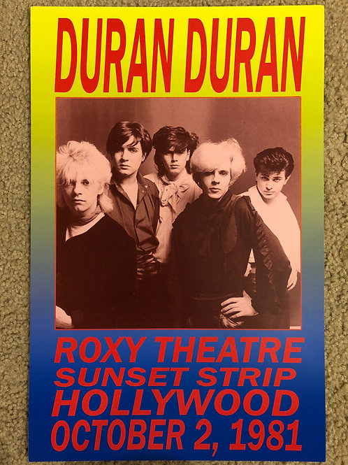 Duran Duran Roxy Theater (11x17)