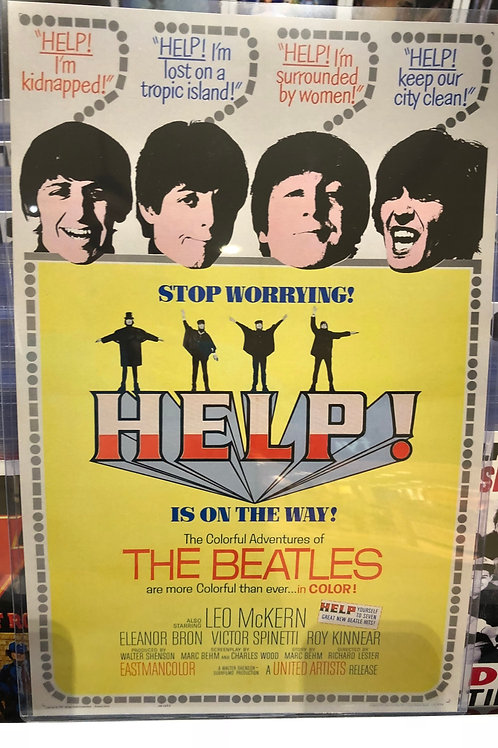 The Beatles Help Concert Poster