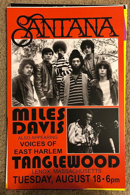 Santana Miles Davis (11x17)