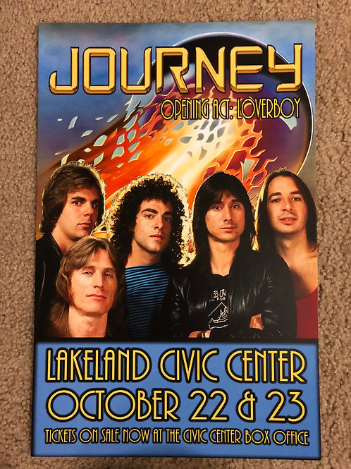 Journey with Loverboy at Lakeland (11x17)