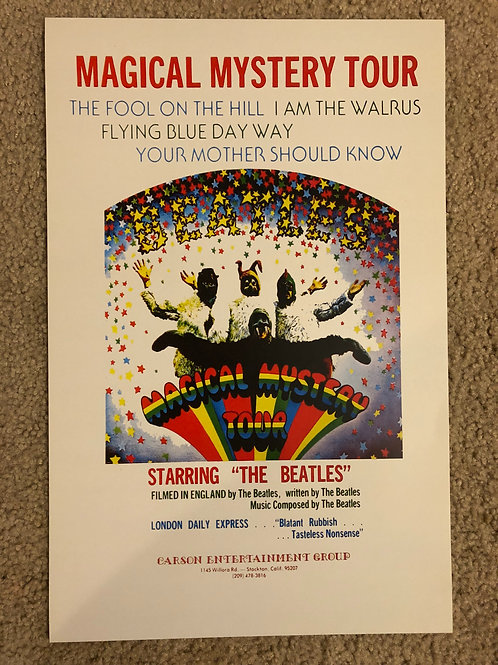 The Beatles Magical Mystery Tour (11x17)