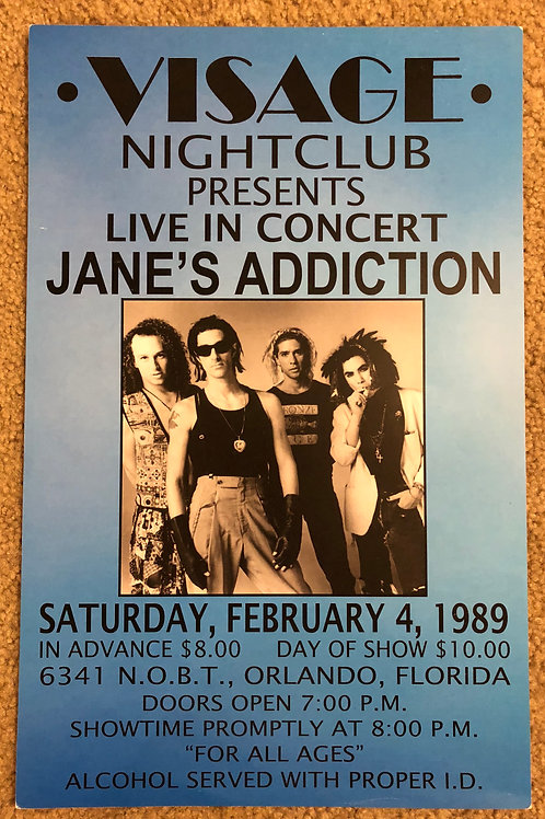 Janes Addiction Live in Concert (11x17)