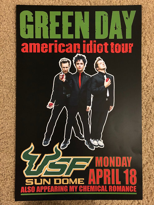 Green Day American Idiot Tour USF (11x17)
