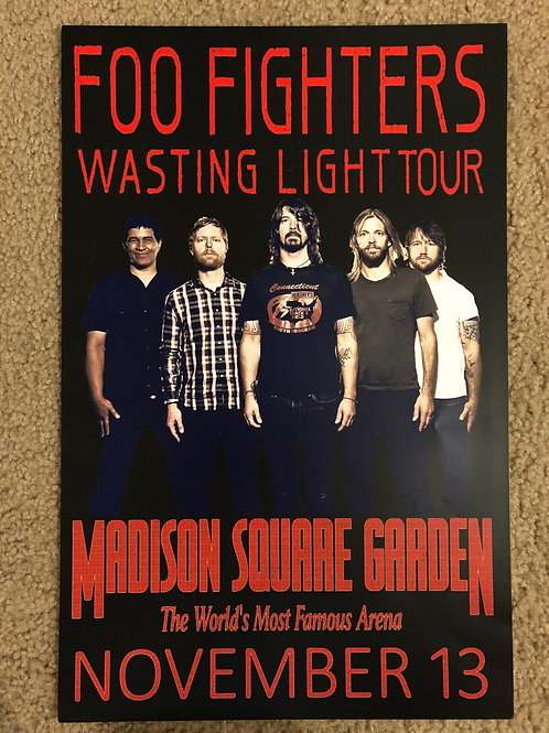 Foo Fighters Wasting Light Tour (11x17)