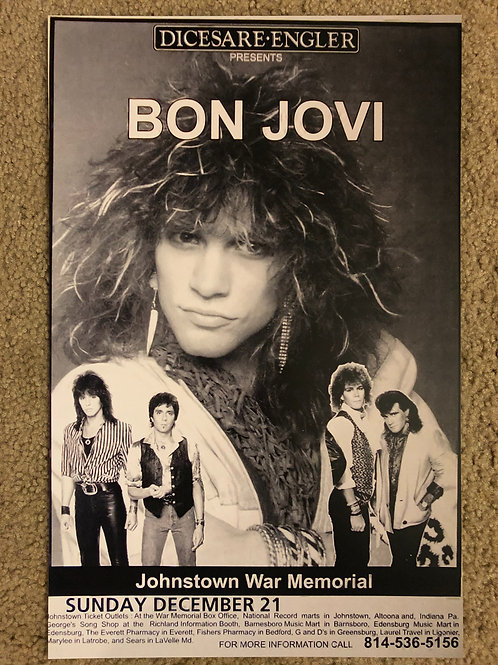 Bon Jovi Big Face with 4 Members (11x17)