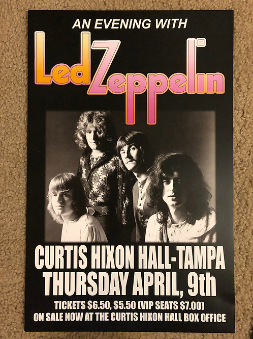 Led Zeppelin Curtis Hixon Hall-Tampa (11x17)