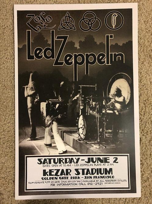 Led Zeppelin Kezar Stadium (11x17)