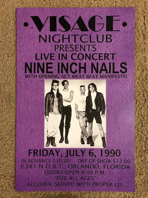 Nine Inch Nails Visage Nightclub (11x17)