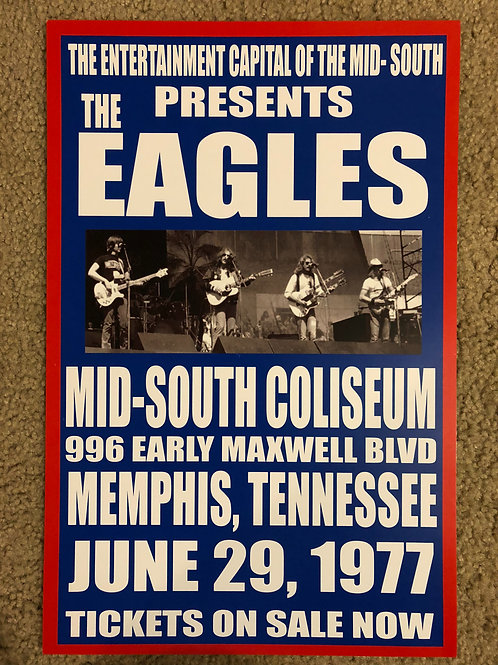 The Eagles Mid South Coliseum (11x17)