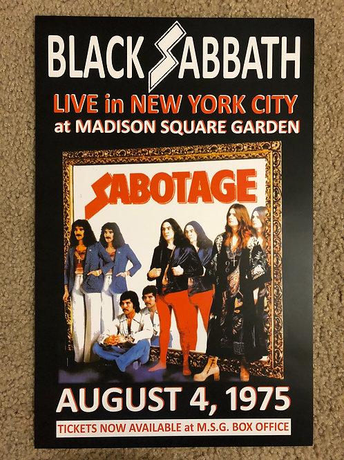 Black Sabbath Sabotage (11x17)