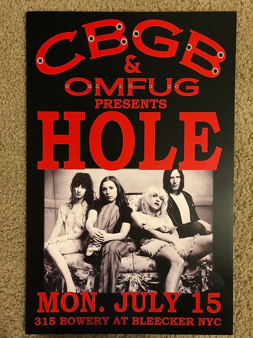 Hole and OMFUG at CBGB (11x17)