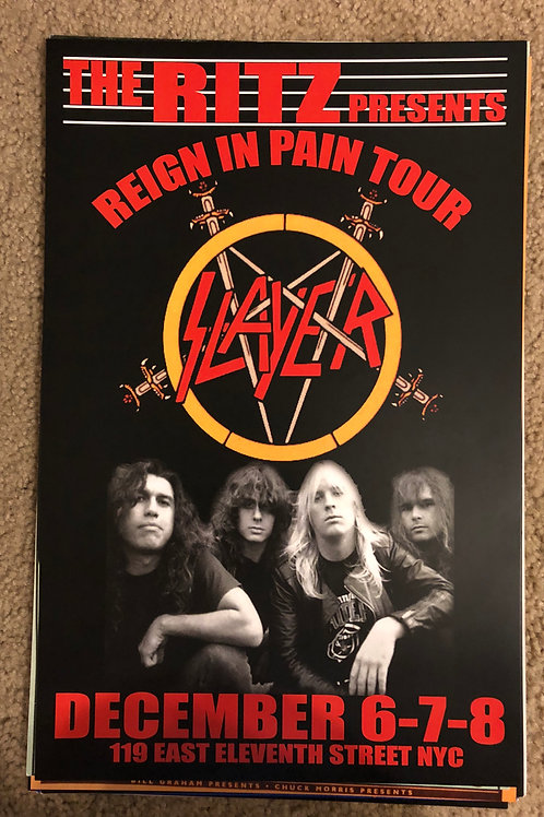 Slayer Reign in Pain Tour (11x17)