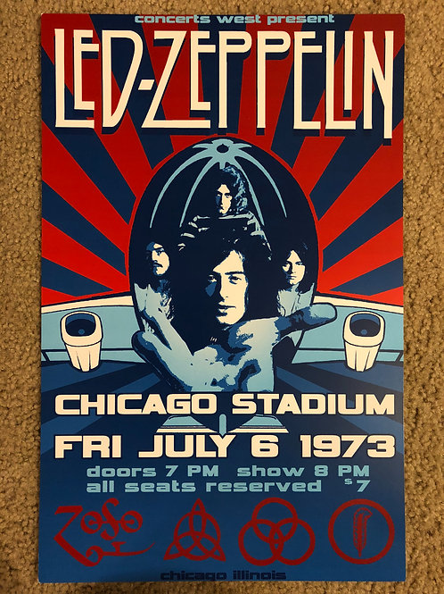 Led Zeppelin Chicago Stadium (11x17)