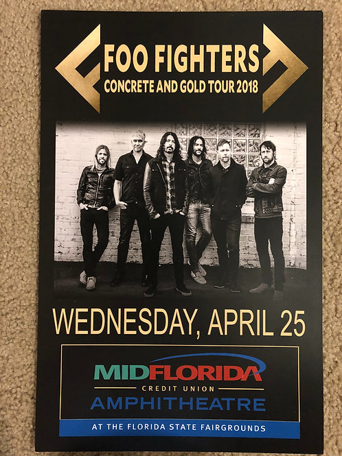 Foo Fighters Concrete and Gold Tour (11x17)