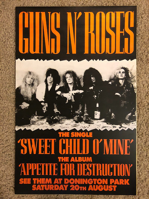 Guns and Roses Sweet Child of Mine (11x17)