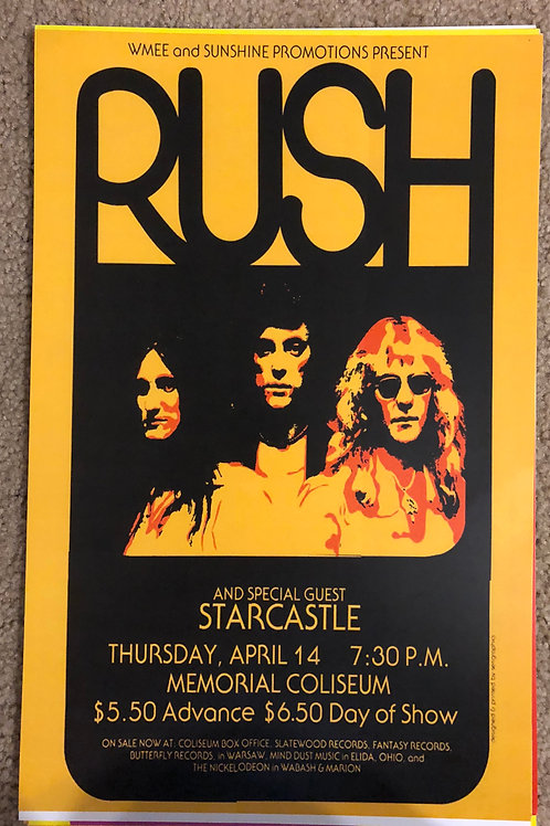 Rush with Starcastle (11x17)