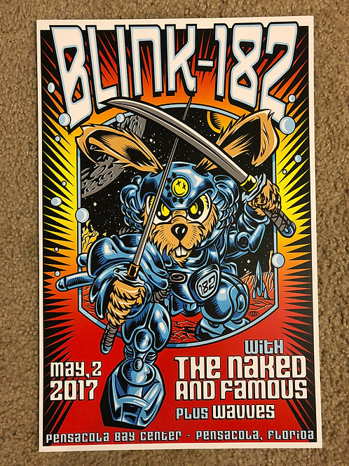 Blink 182 The Naked and Famous (11x17)