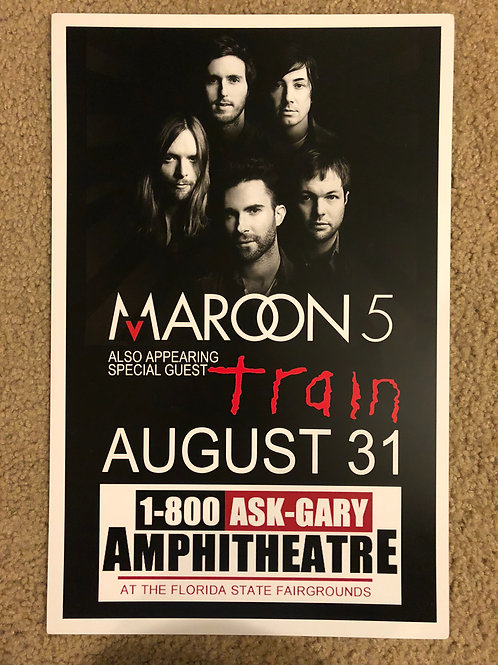 Maroon 5 Train (11x17)