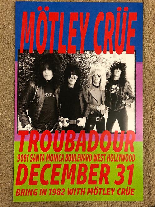 Motley Crue The Troubador (11x17)