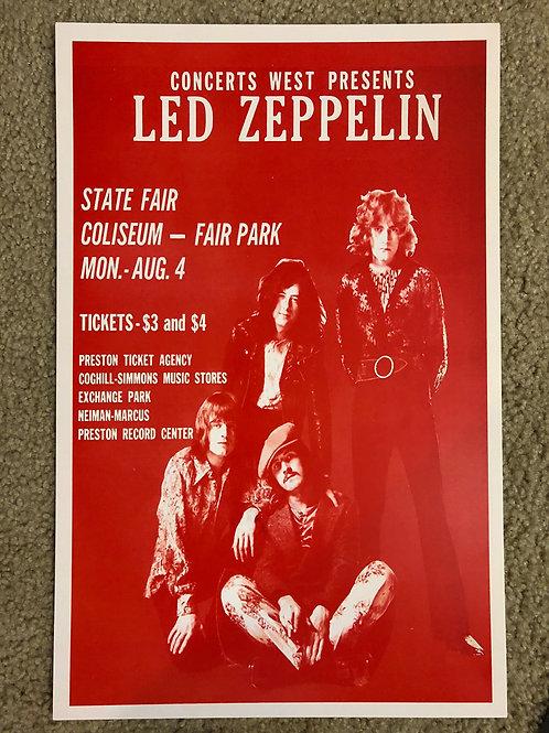 Led Zeppelin State Fair Coliseum (11x17)