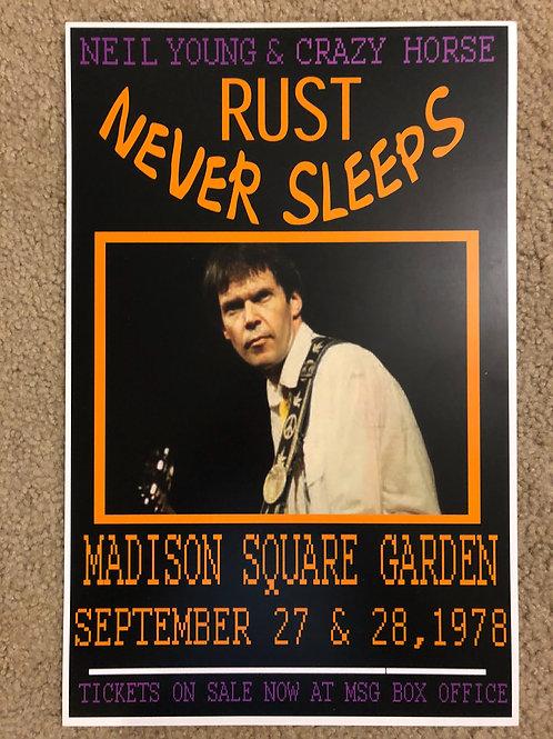 Neil Young Rust never Sleeps (11x17)