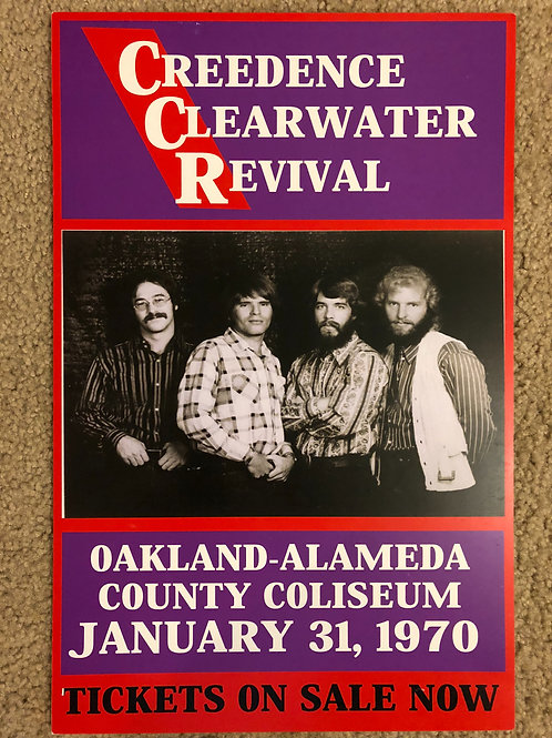 Credence Clearwater Oakland Alameda (11x17)