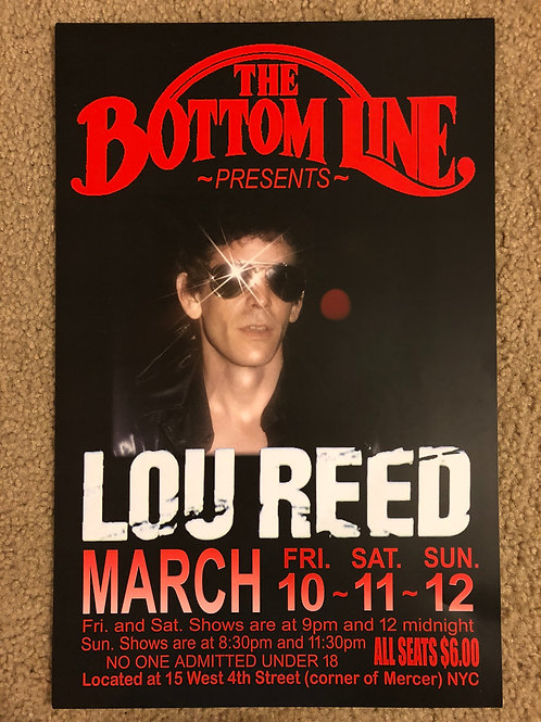 Lou Reed Bottom Line (11x17)