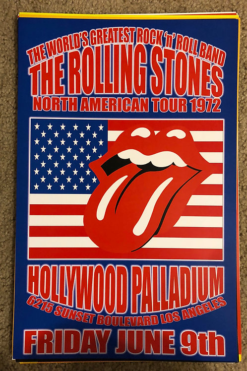 The Rolling Stones Hollywood Paladium (11x17)