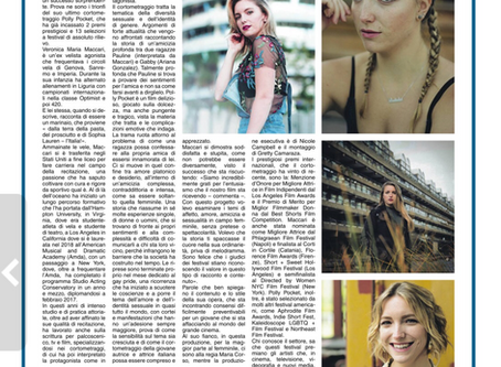 Italian National Newspaper writes about Veronica