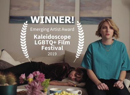 Emerging Artist Award Win at Kaleidoscope LGBTQ+ Film Festival!