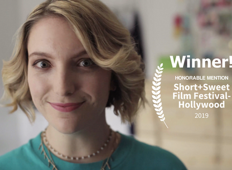 Honorable Mention Award Win at Short+Sweet Film Festival Hollywood!