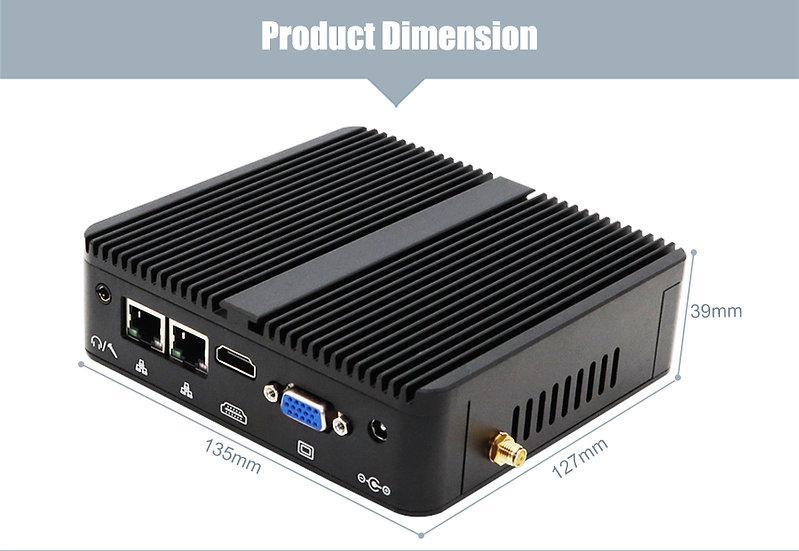 dual lan fanless mini pc intel celeron J4105 1.5GHz DDR4 desktop computer
