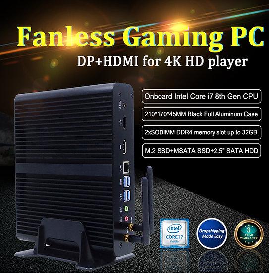 Mini desktop computer intel core i7 6500U dual core best small pc
