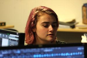 Student workingon a computer