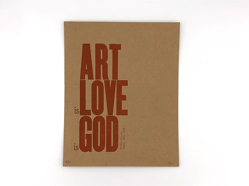 Art is Love is God