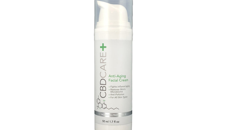 CBDCARE+ Anti-Aging Facial Cream 300mg 1.7oz