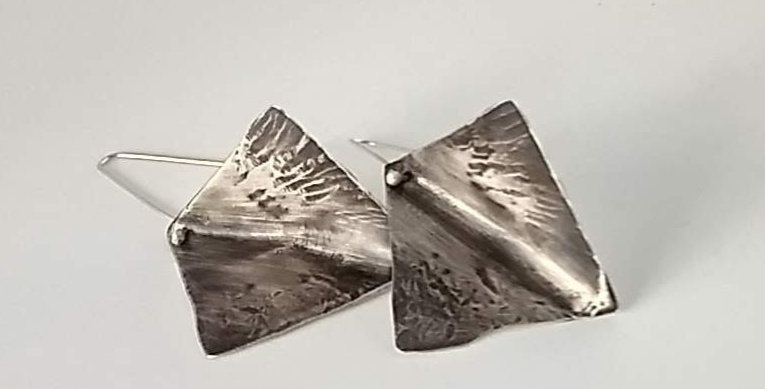 Silver Rhombus Earrings