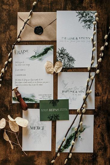 Faire-part de mariage Fleurs de Coton