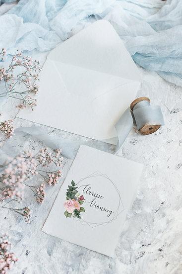 Faire-part de mariage Bouquet de fleurs