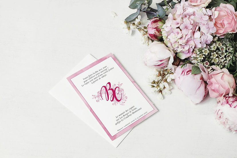 Invitation repas mariage The pink