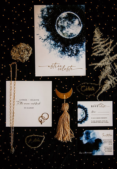 Faire-part de mariage To the moon and back
