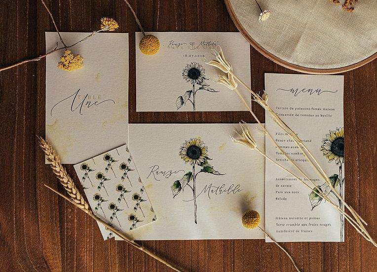 Faire-part de mariage Sunflower