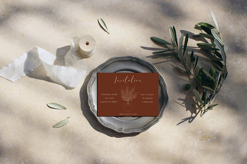 Invitation repas Olive tree