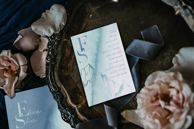 Invitation repas mariage Boréales